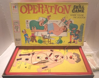 "Vintage 1965 ""Smoking Doctor"" Operation Game ~ Vintage Game"