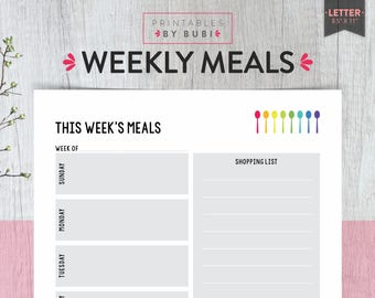 weekly meal chart