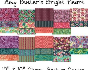 "SALE - Bright Heart - Amy Butler - 10""X10"" Layer Cake Charm Pack, - 42 PIECE BUNDLE - Cotton"