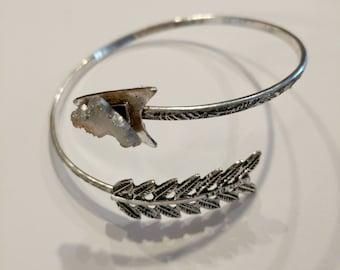 Druzy arrow bracelet