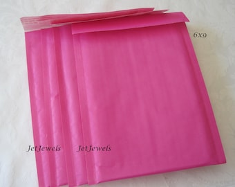 20 Pink Bubble Mailers, Hot Pink Padded Mailer, Shipping Envelopes, Mailing Envelopes, Kraft Mailers, Shipping Supplies, Self Sealing 6x9