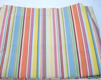 Bright Stripe Upholstery Fabric, 2 Yards