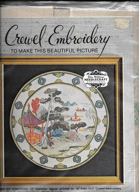 Vintage Elsa Williams Crewel Embroidery Kit Kwan Lin Kc600