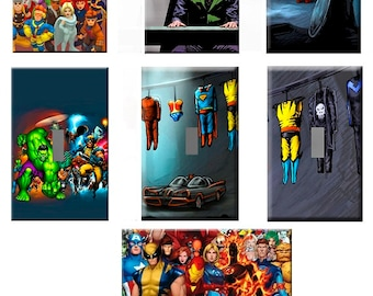 Super Hero Themed Light Switch Plate & Outlet Covers