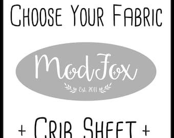 Custom Crib Sheet - Choose Your Fabric - Custom Fitted Crib Sheet In Any Fabric - Fitted Crib Sheet - Toddler Sheet -Baby Sheet-Baby Bedding