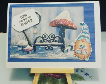 Gnome Christmas card #4