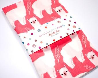 Alpacas FAT QUARTER fabric, Alpacas fabric, Alpacas print fabric, Llama fabric print, Pink fabric, quilting fabric, digital fabric print