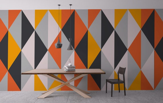 Mid Century Geometric Wall Decal byHomeArtStickers
