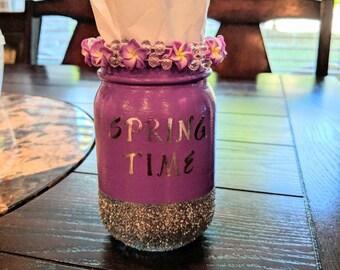 Spring Time Tissue Jar