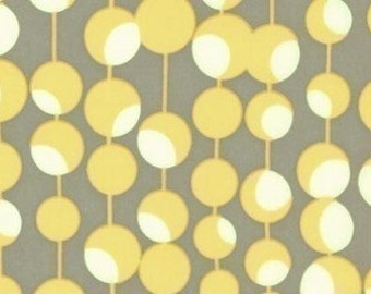 SALE-1 yard of Mustard  Martini Dot by Amy Butler