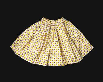 Vintage NOS 60's Printed  Skirt 5-6 Years