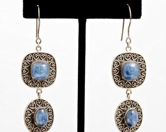Kyanite 215 - Earrings - Sterling Silver & Kyanite