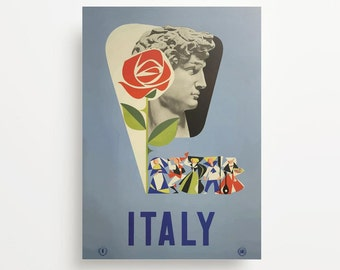 Vintage Travel Poster Italy Giclée Print