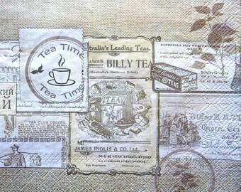 Napkin tea - tea 33 x 33 cm