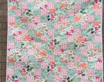 Handmade baby /toddler girl quilt
