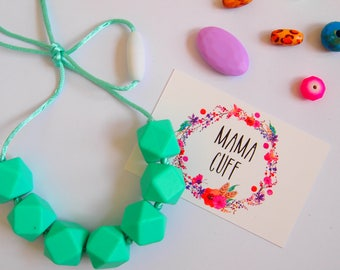 Turquoise Silicone Teething Necklace