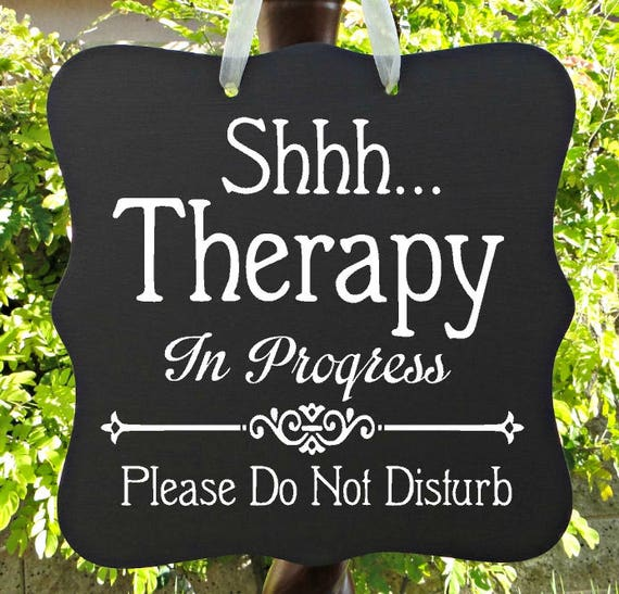 Therapy In Progress Sign, Physical Therapy Sign, Business Sign, Door Sign, Patient, Appointment, Meeting, Do Not Disturb, In Session Sign