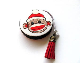 Tape Measure with Classic Sock Monkeys Retractable Measuring Tape