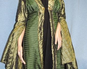 Custom made Professor Mcgonagall from Harry Potter green robe cape cloak and Ravenclaw school robe set