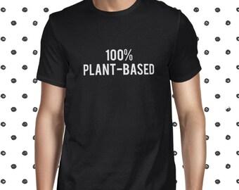 Vegan Men's T-shirt Vegan Clothing Vegetarian Tee Animal Rights Tee Male Vegetarian Cheap Vegan T-shirt Cute Plant Tee Vegan Shirt