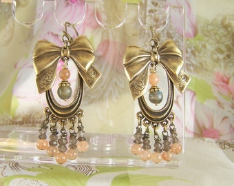 Bows n Beads Earrings