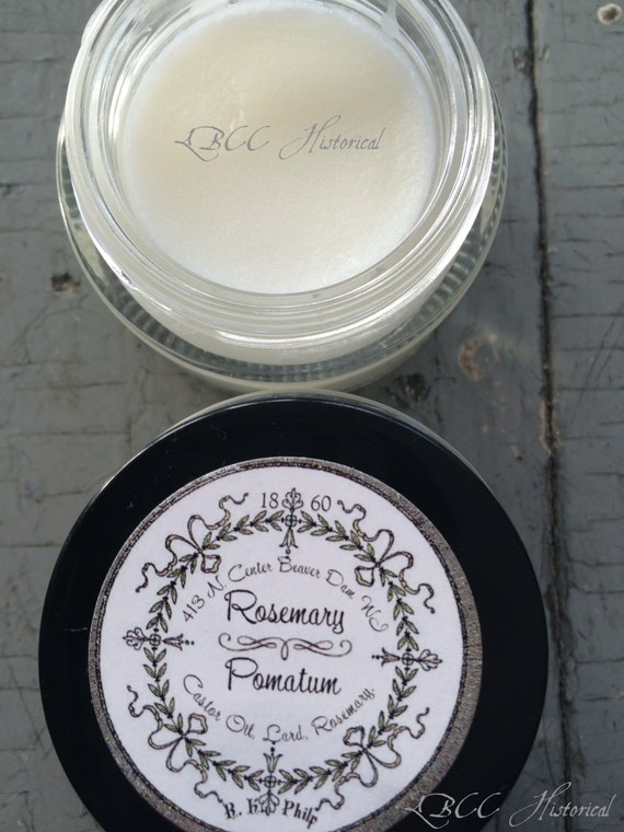 Victorian Makeup Guide & Beauty History 1860 Rosemary Soft Pomatum or Pomade $10.00 AT vintagedancer.com