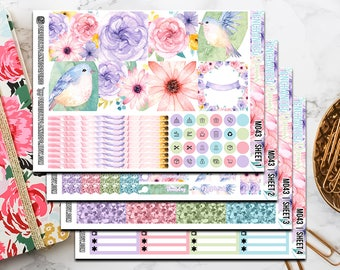 M043   Enchanted Dreams // Full Weekly Kit // Mini Happy Planner Stickers