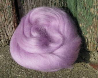 Ewespinningmeayarn SALE Merino Wool Roving/top 64's 23 Microns - LAVENDER. For Spinning,Wet or Needle Felting, Craft Work.