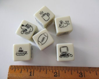 dice - 6 pieces - game-story cubes--assemblage-crafts-jewelry