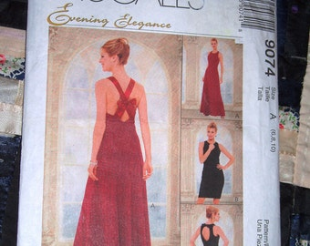 1997 McCall's Pattern 9074 for Women's Evening Elegance Dress Size 6 8,10 Uncut