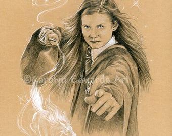 HARRY POTTER - Ginny Weasley A4 Art Print (29.7 x 21cm)