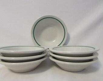 Wellsville, Dinerware Dessert or Side Bowls, Set of Seven, USA, 1960's or 1970's