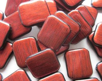 Brown Acrylic Beads 25x22mm 14 Beads