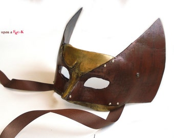 Wolverine mask. Venetian mask inspired by X-Men hero, Logan. Totally handmade mask for cosplaying.