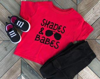 Shades and Babes Kid Shirt. Boy clothing. Boy Shirt. Kid Clothing. Toddler Shirt. Gift.