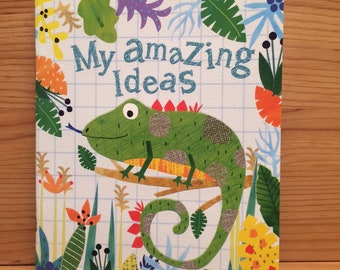Boys journals, Blank page journals, iguana, jungle,gift,boys present,ideas book,size A5, gift, boy gift, Note book, PP05