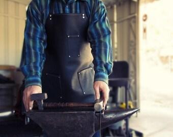 Industrial Leather Apron, Men's Leather Apron, Blacksmith Apron, Men's Gift, Tattoo Artist Apron, Shop Apron