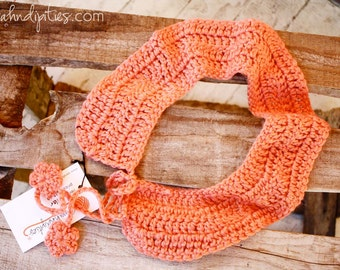 Crochet Peter Pan Collar Necklace - Medium - Persimmon