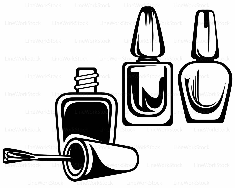 Nail Polish Bottle Silhouette