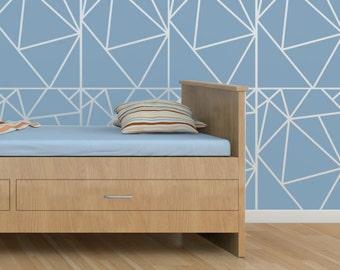 Geometric Allover Pattern Wall Stencil Reusable