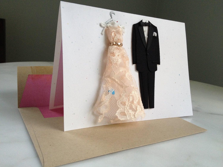 Premium Handmade Card Wedding Day Congratulations Best
