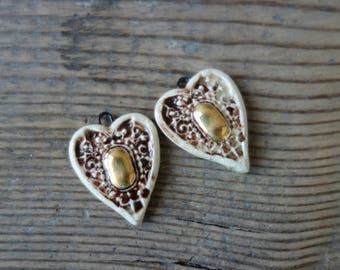 Ceramic pendant .Ceramic handmade