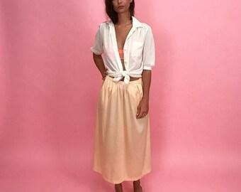 Pale peach maxi skirt S