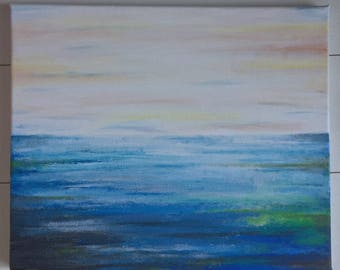 Abstract Seascape Acrylic Painting on Canvas