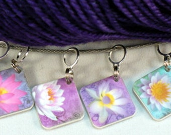 Beautiful LOTUS Flower stitchmarkers for KNITTERS or CROCHETERS