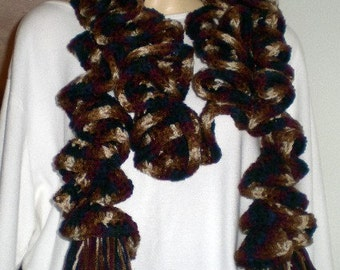 Scarf, Scarves,Curling Scarf ,Multi-color,Crochet scarf, Womens accessories, Girls Accessories,