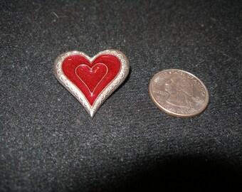 Enamel Heart Brooch(1100)