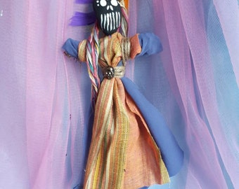 Spirit Doll Voodoo Doll Poppet Good Luck Charm Feminine Power New Orleans Inspired Good Luck One of a Kind Nameless Vessel, Positive Energy