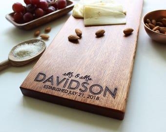 Cheese Board, Personalized Cutting Board, Engagement Gift, Wedding Gift, Anniversary, Personalized Womens, Gift For Her, Housewarming
