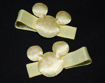Mickey Mouse Yellow Dot Hair Clips - Buy 3 Items, Get 1 Free